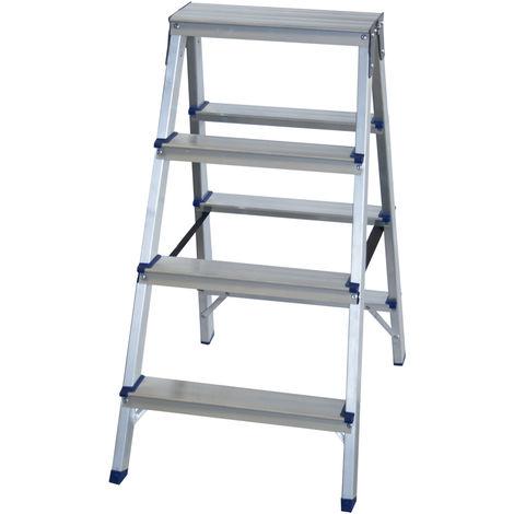 Escalera doméstica de Aluminio tijera doble acceso SERIE PAINT 2 x 4 peldaños