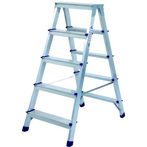 Escalera doméstica de Aluminio tijera doble acceso SERIE PAINT 2 x 5 peldaños