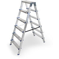 Escalera doméstica de Aluminio tijera doble acceso SERIE PAINT 2 x 6 peldaños
