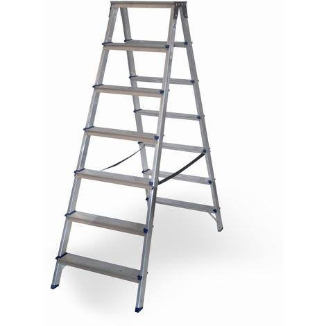 Escalera doméstica de Aluminio tijera doble acceso SERIE PAINT 2 x 7 peldaños