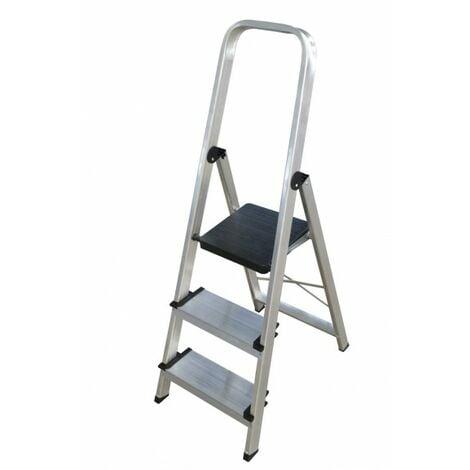 Escalera doméstica de Aluminio tijera un acceso - ancho con asa SERIE 350 3 peldaños