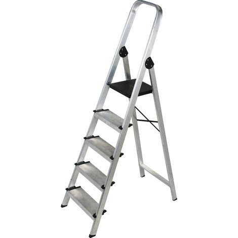 Escalera doméstica de Aluminio tijera un acceso - ancho con asa SERIE 350 5 peldaños
