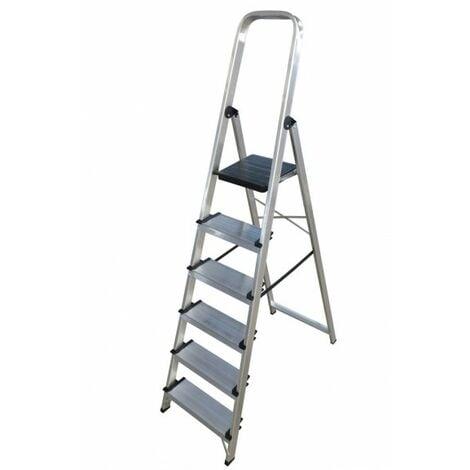 Escalera doméstica de Aluminio tijera un acceso - ancho con asa SERIE 350 6 peldaños
