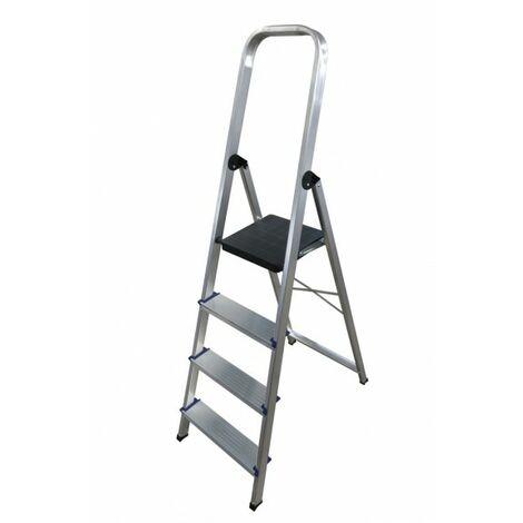 Escalera doméstica de Aluminio tijera un acceso con asa SERIE 370 4 peldaños