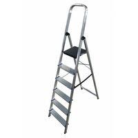 Escalera doméstica de Aluminio tijera un acceso con asa SERIE 370 6 peldaños