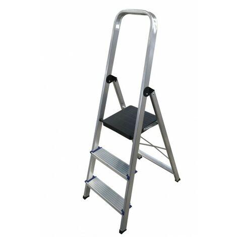 Escalera doméstica de Aluminio tijera un acceso con asa SERIE 370 3 peldaños