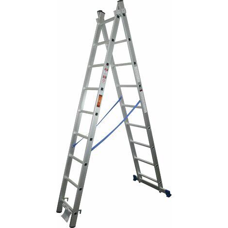Escalera Extensible, Aluminio, 2x7 Peldaños - MADER® | Hardware