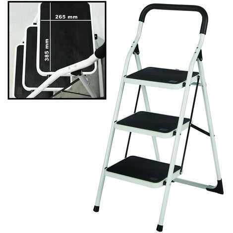 Escalera Extra-Ancha Plegable de Acero
