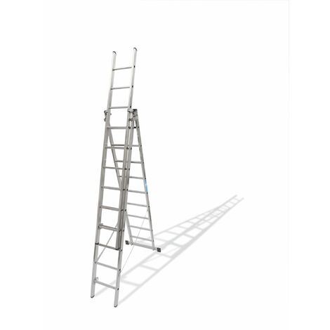 Escalera Ind Transf 1,93/4,03mt 6 Peldaños Tr.c/base Alu Ktl