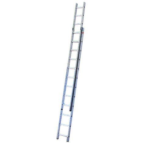 Escalera Industrial 2 Tramos 2X15 Hailo Profistep Duo 7215 - 4.23/7.33M..