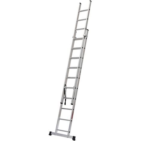 Escalera Industrial Combinada 2 Tramos 2X12 Peldaños 3.46/5.59M - NEOFERR - Pt1534