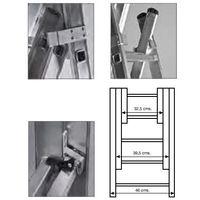 Escalera Industrial Combinada 3 Tramos 3x12 3.46 / 8.10 Mt - NEOFERR - PT1536