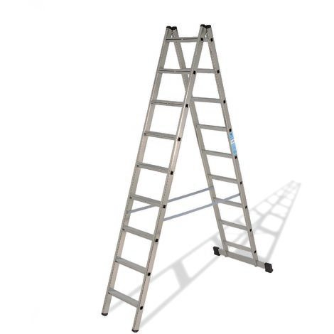 Escalera industrial de Aluminio tijera doble acceso con base 2 x 6 peldaños sin asa SERIE SCISSOR