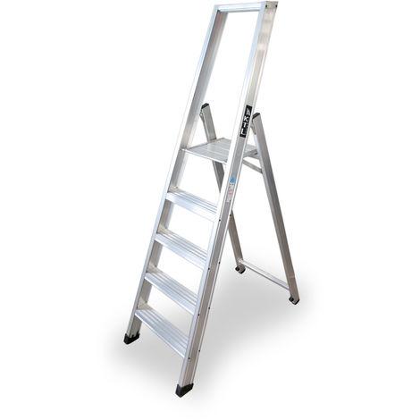 Escalera industrial de Aluminio tijera un acceso 5 peldaños SERIE XL