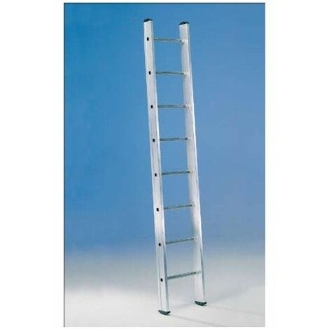 Escalera Industrial De Apoyo 2,40Mt 8 Peldaños 1 Tramo Aluminio Svelt