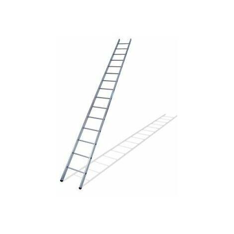 Escalera Industrial De Apoyo 2,77Mt 9 Peldaños 1 Tramo Aluminio Ktl