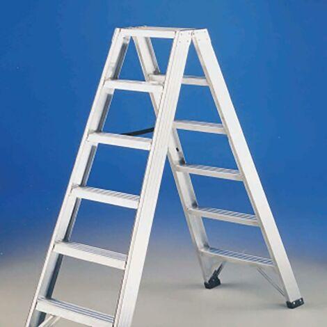 Escalera Industrial Doble 8 Peldaños 1,86Mt Aluminio P1 Svelt 49314
