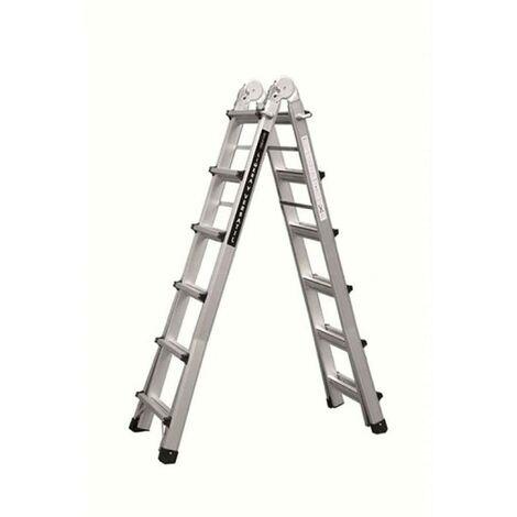 Escalera Industrial Multiusos Telescopica 12+12 Peldaños 6,26Mt Aluminio Codiven