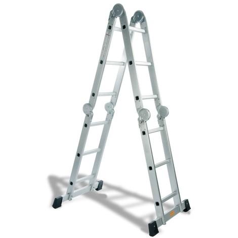 Escalera Multiuso Aluminio Plataforma 4 + 3 - CODIVEN - Ema-3C