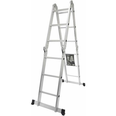 Escalera multiuso articulada 3x4 peldaños 316 cm - MADER