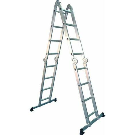 Escalera multiuso articulada 4x4 escalones - MADER®