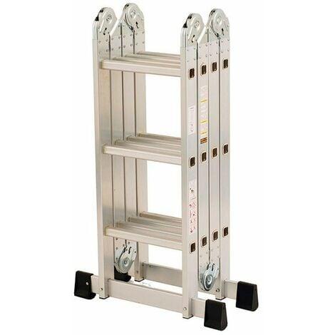 Escalera multiusos de aluminio 4x3