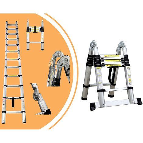 Escalera Multiusos, Escalera de Tijera, 3,8 Metro(s), Barra estabilizadora, EN 131, Estándar/Certificación: EN131