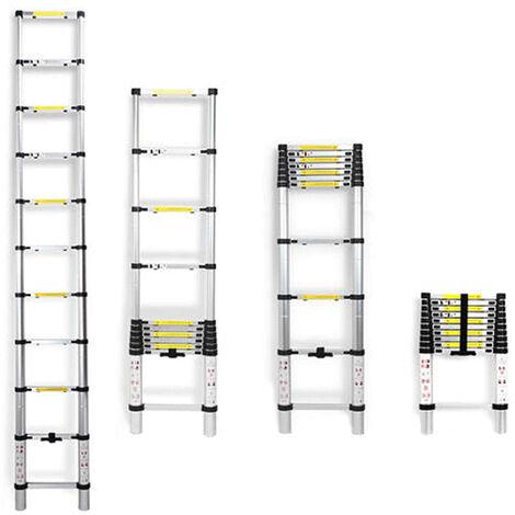 Escalera multiusos Escalera extensible extensible plegable telescópica del estilo de la aleación de aluminio de los 3.2M