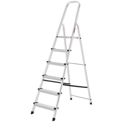 Escalera Oryx 6 Peldaños Aluminio