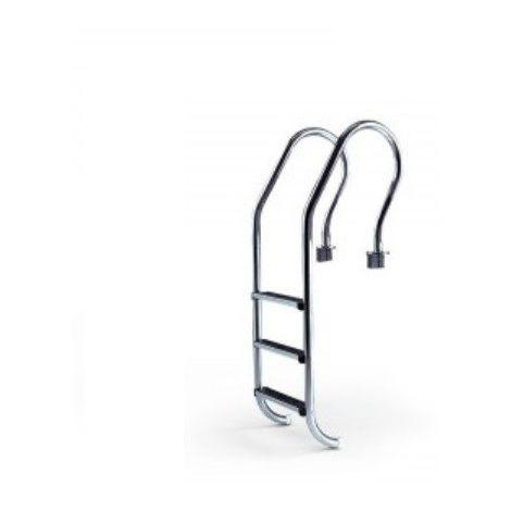 Escalera para piscina con pasamanos en acero inoxidable