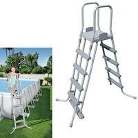Escalera piscina con plataforma alto 132 cm. bestway