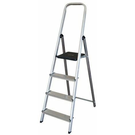 Escalera Plegable De 4 Peldaños (152 X 42,5 X 12 Cm)