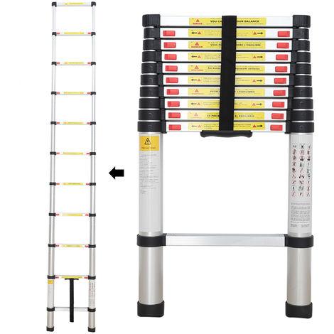 Escalera Plegable, Escalera Telescópica, 3,2 Metro(s), EN 131, Carga máxima: 150 kg