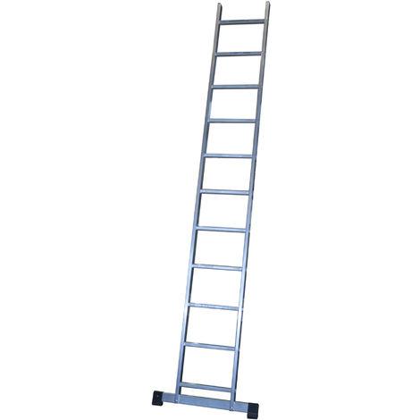 Escalera profesional de Aluminio de apoyo simple con barra estabilizadora SERIE BASIC 11 peldaños