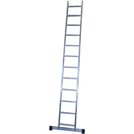 Escalera profesional de Aluminio de apoyo simple con barra estabilizadora SERIE BASIC 12 peldaños
