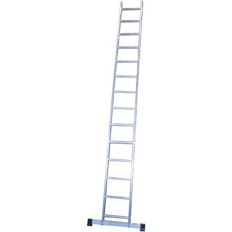 Escalera profesional de Aluminio de apoyo simple con barra estabilizadora SERIE BASIC 14 peldaños