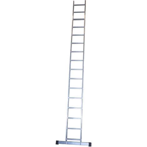Escalera profesional de Aluminio de apoyo simple con barra estabilizadora SERIE BASIC 16 peldaños