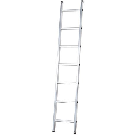 Escalera profesional de Aluminio de apoyo simple SERIE BASIC 7 peldaños