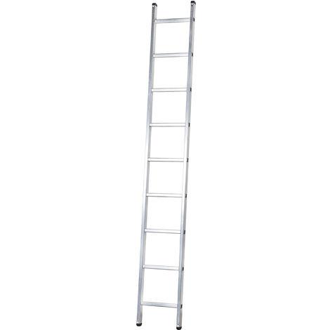 Escalera profesional de Aluminio de apoyo simple SERIE BASIC 9 peldaños