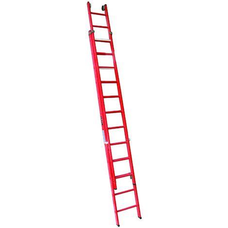 Escalera profesional de Fibra de apoyo doble extensible 2 x 12 peldaños SERIE HILL
