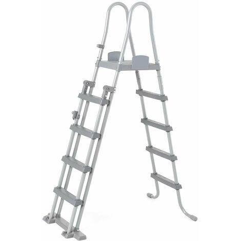 Escalera Seguridad Piscinas Elevadas Bestway 58332 Altura 132 cm