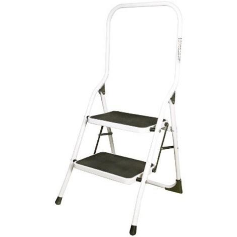 Escalera Taburete Acero 2 Peldaños Uso Domestico