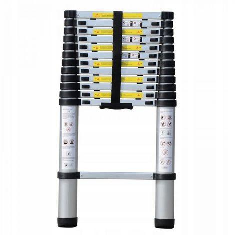 Escalera telescópica de aluminio 1 x 9 / 2.6 150 k