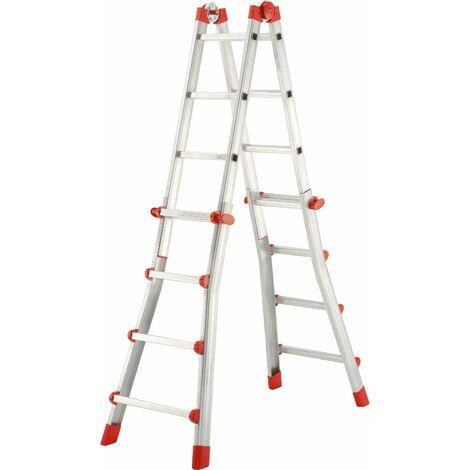 Escalera telescópica 4 tramos - aluminio - ProfiStep® Multi