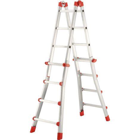 Escalera telescópica 4 tramos - aluminio - ProfiStep® Multi - P7-01-008-V02