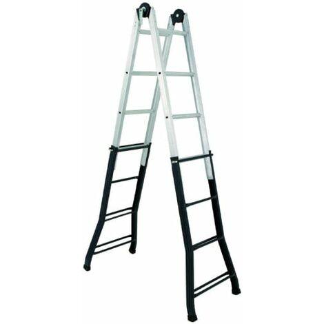 Escalera telescópica aluminio acero Altipesa 334