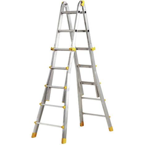 Escalera Telescópica Aluminio Maurer 5+5 Peldaños