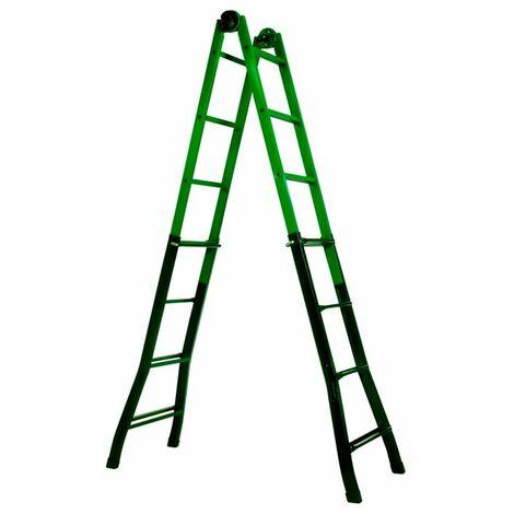 Escalera telescópica de acero 4x4 Miraggio