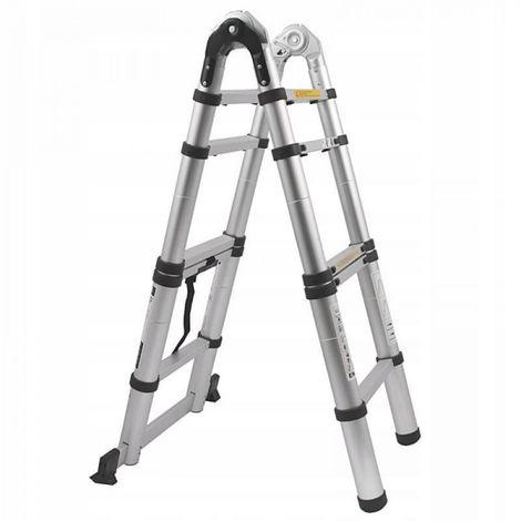 Escalera telescópica de aluminio 2 x 7 / 4.4 150 k