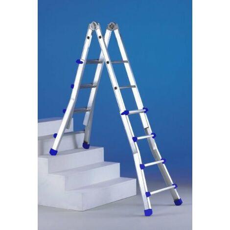 Escalera telescópica de aluminio Svelt Escalisima 10+10